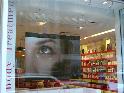 Window Rear Projection Poster System